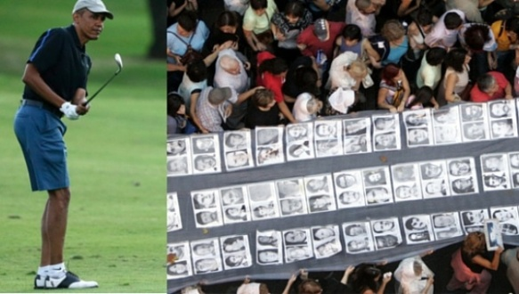 obama plays golf while argentina mourns.jpg