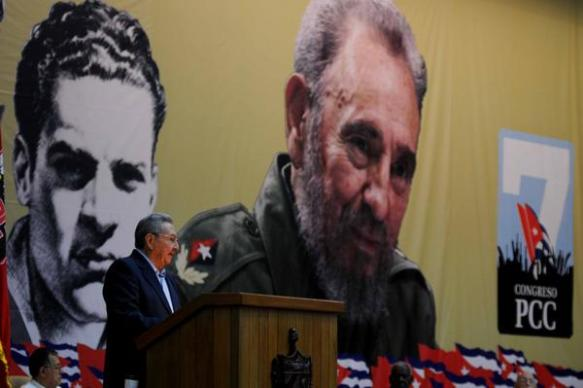raul presents report to the 7th congress of the pcc.jpg