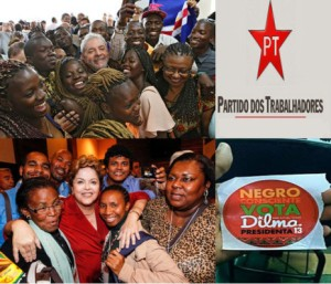 dilma lula with afro brazilians