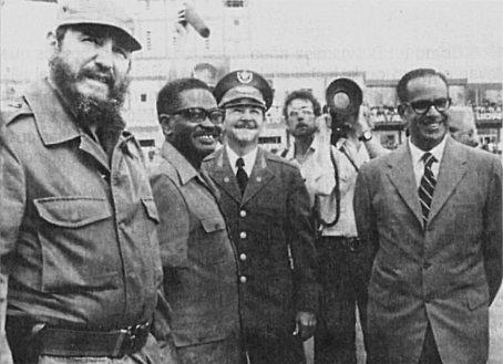 Fidel Castro, Agostinho Neto, Raúl Castro and Osvaldo Dorticós.jpg