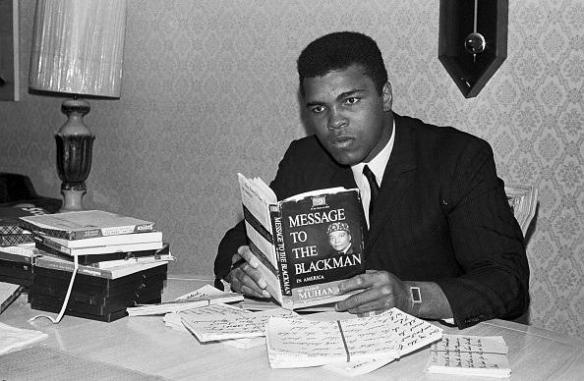 muhammad ali reads message to the black man