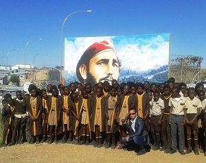 fidel's painting in Namibia.jpg