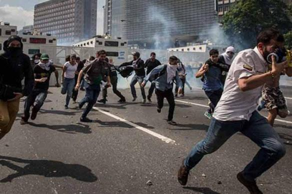 far from peaceful protests in venezuela.jpg