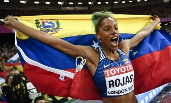 yulimar rojas venezuela wins triple jump