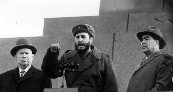 fidel in red square
