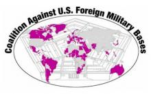 coalition against us foreign military bases