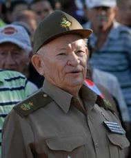 El Comandante de la Revolución Guillermo García Frías, presidió el acto por el 55 aniversario de la Batalla de Maffo, efectuado en el poblado del mismo nombre en el municipio de Contramaestre, de la provincia de Santiago de Cuba, el 30 de diciembre de 2013. AIN FOTO/Miguel RUBIERA JUSTIZ/are