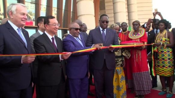 president macky sall cuts ribbon at inauguration of museum