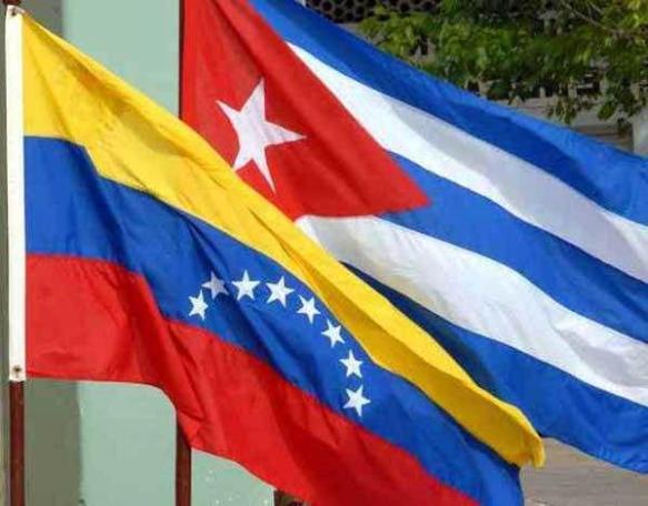 cuban y venezuelan flags