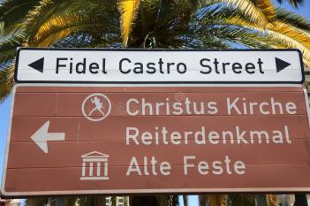 fidel castro street in namibia